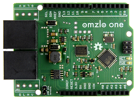 Omzlo one: An Arduino with built-in CAN-bus network you can